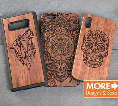 Engraved wood cases