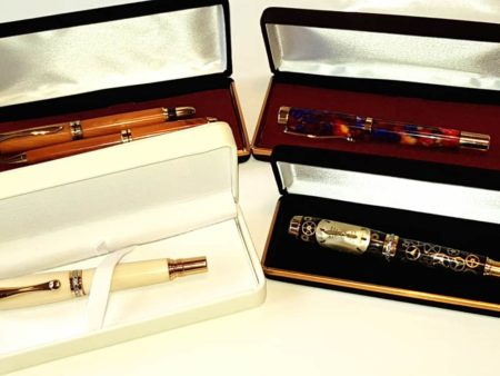 Four Luxury Fountain Pens With Gift Boxes