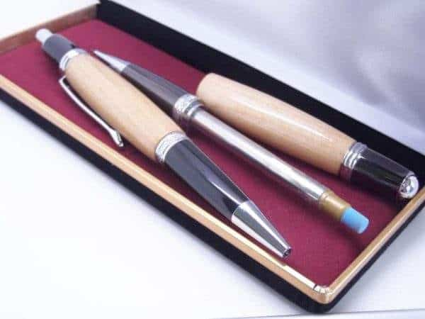 Willow pencil and pen with gift box