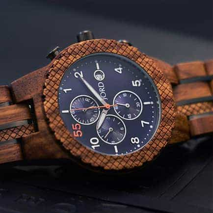 Conway chronograph watch for wooden valentine gifts