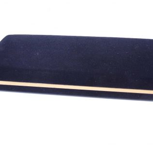 Black Double Velvet Pen Box