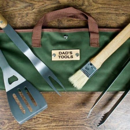 Personalised BBQ tool set for Dad