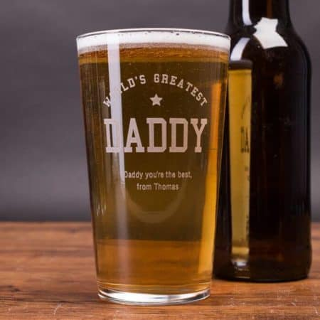 Personalized Pint Glass - Worlds Greatest Daddy