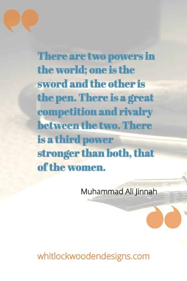 There are two powers in the world; one is the sword and the other is the pen. There is a great competition and rivalry between the two. There is a third power stronger than both,