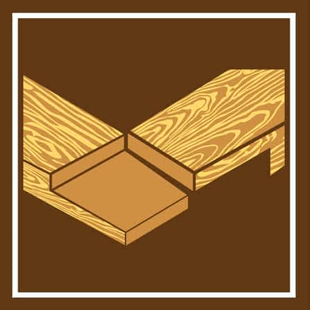 Woodworkers lap joinery
