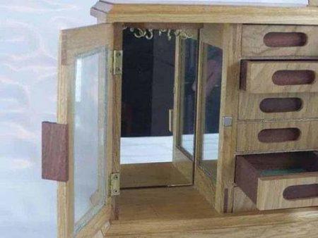 Wooden Wardrobe Jewellery Box
