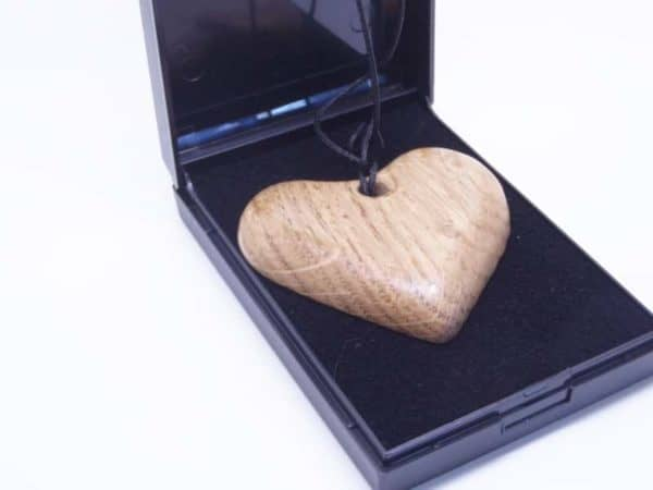 Oak Heart Necklace With Box