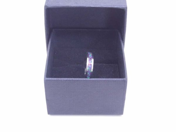 Green And Purple Opal Ring With Box