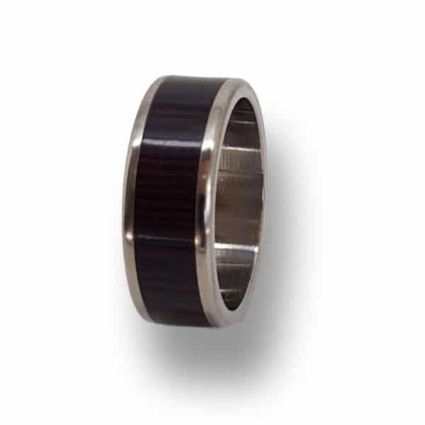 Man's Titanium Wenge Ring