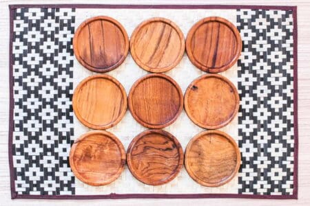 Wooden coasters for gift ideas