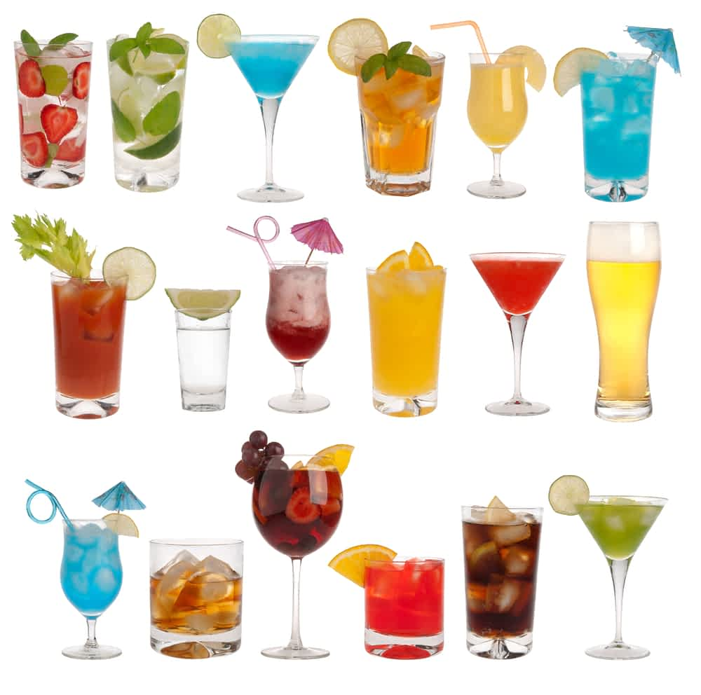 colourful drinks